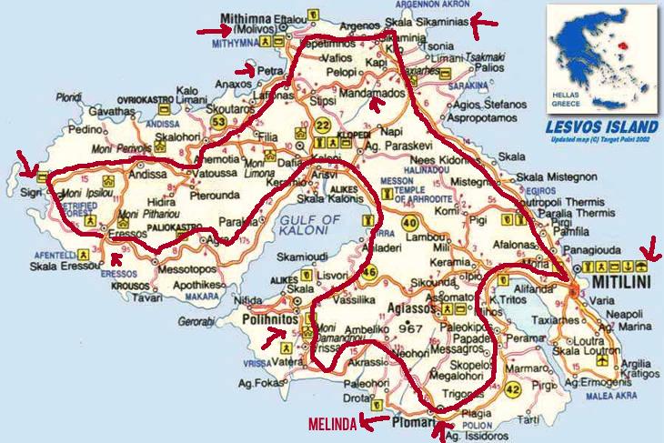 midilli-haritasi_yol